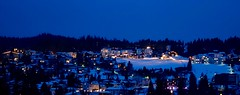 Blue Hour Skyline (fxdx) Tags: blue winter panorama skyline village films pano hour rx100m3