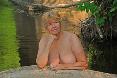 Skinny-Dipping On a Remote Stretch of the Potomac (jerbec) Tags: railroad trestle river naked nude md hiking maryland rr becky potomac nudist naturist pawpaw skinnydipping pawpawbends westernmarylandrailroad nudehiking jerbec wmrr
