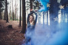 PHILOMENA (hollyrosestones) Tags: blue beautiful woodland stars dance kent woods moments dancing forrest expression smoke soul mean bomb magical collaboration tunbridgewells bluesmoke philomena smokebombs