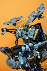 Decibelle_21 (Shadowgear6335) Tags: orange radio robot factory lego good technic hero bionicle mech moc shadowgear6335 bionicle2015