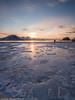 Passeggiata sulla spiaggia di ghiaccio (Daniele Penati Photo) Tags: sunset sea ice norway lofoten ghiaccio haukland
