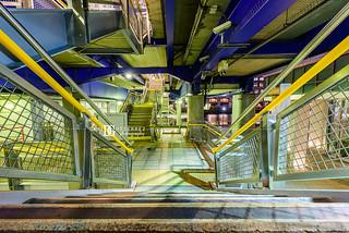 West India Quay DLR Station, London, UK