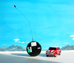 Canned Heat Radio Controlled Mini Cooper By Tyco R/C Mattel Incorporated 1998 : Diorama Boneville Salt Flats - 16 Of 21 (Kelvin64) Tags: by radio salt mini flats cooper heat canned 1998 rc mattel diorama incorporated controlled tyco boneville