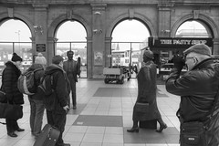Street Photographer (Tony Shertila) Tags: england people station statue liverpool europe photographer britain indoor concourse limestreet merseyside kendodd