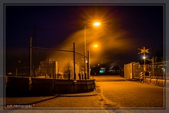 Spoorwegovergang (wibra53) Tags: industry night nightshot nacht industrie dsm geleen 2016 nachtopname eveningphotography