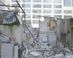 abandoned rooftop house (Egg Cheung) Tags: house abandoned 120 film rooftop hongkong decay medium 6x7 urbex fujicolorpro400h fujifilmgf670professional wwwfacebookcomurbanfragment