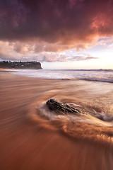Bungan Return (Tim Donnelly (TimboDon)) Tags: ocean color colour sunrise canon oneofakind australia nsw hitech bungan bunganbeach sirui