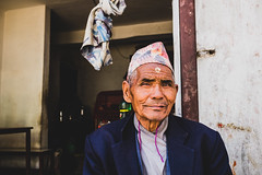 Nepali man (Daniele Zanni) Tags: travel nepal man google flickr streetphotography streetportrait facebook nepali squarespace 500px x100s