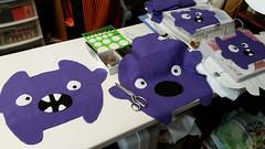 Purple monsters in progress (Pywackyt) Tags: stuffedtoy toy purple sewing plush plushie softtoy plushtoy