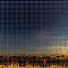 Gold Threaded (Paul Brouns) Tags: boy sunset red two sun black reflection sports grass lines wall architecture facade dark square landscape paul gold golden pattern flat geometry mosaic coat small center surface hour straight architectuur almere dimensional brouns paulbrouns paulbrounscom