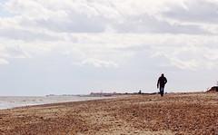 back home (Pea Jay How) Tags: sea sky cloud man beach walking coast town suffolk coastal southwold covehithe