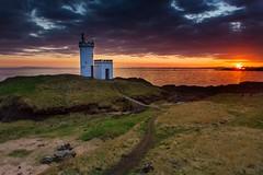 Elie Ness Lighthouse Sunset (Daniel Giza) Tags: sunset sea lighthouse seascape water canon landscape coast scotland fife outdoor north shore lee filters tamron ness elie 50d