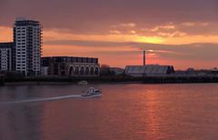 IMGP0538 (mattbuck4950) Tags: sunset england sun london water reflections boats march europe unitedkingdom dusk rivers riverthames chimneys gbr 2016 londonboroughoftowerhamlets londonboroughoflewisham royalboroughofgreenwich lenssigma18250mm camerapentaxk50