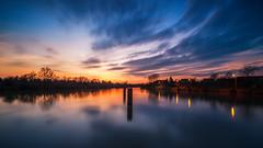 Schwabenheimer Hof (L.u.n.e.x.) Tags: longexposure blue sunset sky clouds river germany sonnenuntergang sony hour neckar 2015 schwabenheim sonynexf3