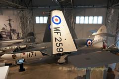 SEA-HAWK-F2-A-171-WF259-10-4-16-EAST-FORTUNE-MUSEUM-OF-FLIGHT (Benn P George Photography) Tags: museumofflight gr1 harrier 10416 seahawk eastfortune 3677 seavenom xv277 wf259 ww145 mig15bissb bennpgeorgephotography