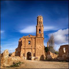 (2259) Belchite Viejo (QuimG) Tags: architecture landscape golden paisaje olympus zaragoza paisatge belchite aragn specialtouch quimg belchiteviejo quimgranell joaquimgranell afcastell obresdart