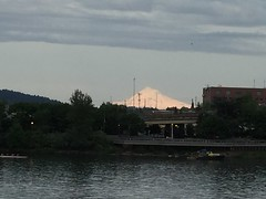 An illuminated Mount Hood seen from Waterfront Park. (Dyslexic Precision) Tags: mounthood