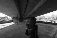 (Aaciss) Tags: girl hair flying women under flyover