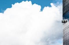 working class (retzka) Tags: sky clouds work poland gdansk skyscrapper