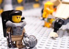 Soldier at Sentai space base (KLIKK Hungarian LEGO Fan Community) Tags: show station japan japanese hungary lego space exhibition base moc afol klikk kockafeszt