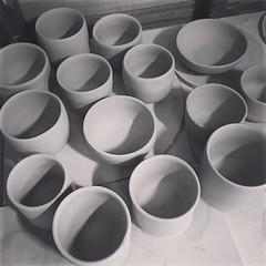 Lots of pots, still turning these... (flowerpress) Tags: ceramics pots clay uploaded:by=flickstagram instagram:photo=121694767058095627811753554