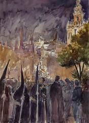 Semana Santa en Sevilla (P.Barahona) Tags: sevilla catedral giralda semanasanta nocturno nazarenos procesin incienso capirotes