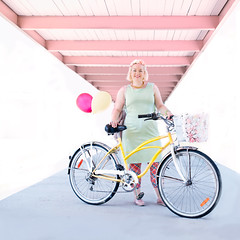 Laura Kidd and her bicycle (..::~ZARA STILLS + MOTION-OTTAWA VELO VOGUE~::..) Tags: canada fashion bike bicycle balloons print bicycling cycling ottawa bikes style riding pastels ciclismo bici bicyclette  velo fiets cykel  on bikefashion streetstyle bisiklet flowercrown kerkpr bikestyle  cyclechic vsco velovogue bicichic xovelo fashioncanadians