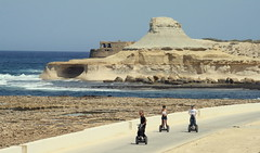 Kezia, Sam and Peter (instructor) - Segway - Saltpans, Gozo (planman) Tags: sports mediterranean sunny segway gozo