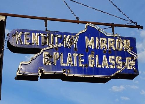 Ky Louisville U S 31w Kentucky Mirror Plate Glass Co Neon Sign