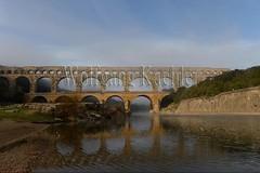 40080184 (wolfgangkaehler) Tags: bridge france water french europe european roman bridges unescoworldheritagesite aqueduct nimes pontdugard aqueducts southernfrance 2016 1stcenturyad gardonriver garddepartment