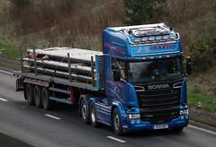 J & G Riddell of Glenkindie Scania R730 BlueStream SV15GNZ (andyflyer) Tags: truck transport lorry a90 haulage hgv glenkindie roadtransport bluestream scaniar730 jgriddell sv15gnz
