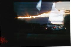 Film15 (ShipOfThunder) Tags: sea film car 35mm canon lights pier seaside exposure doubleexposure double dorset a1 filmcamera canona1 35 triple bournemouth sandbanks poole tripleexposure