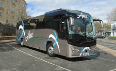 MR16AZZ, Torquay Coach Station, 09/04/16 (aecregent) Tags: volvo panther aziz plaxton coachstation 090416 azizcoachservice panther3 b8r mr16azz