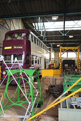 tayb1 IMG_3335 Blackpool 700 in the workshop (robsue888) Tags: balloon tram lancashire 700 tramway blackpool 237 englishelectric rigbyroad