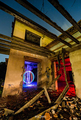 La casa del Millonario (PacoQT) Tags: longexposure house lightpainting abandoned luz night noche casa scary ruins orb ruinas orbe urbex esfera lightart millonario almassora almazora pacoqt pacoquiles millonari abandonedspain