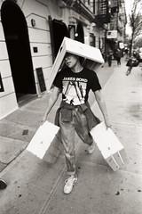 AA011 (heavyasmountains) Tags: nyc newyorkcity blackandwhite slr film 35mm photography nikon candid streetphotography noflash 24mm fm3a filmphotography streetstyle