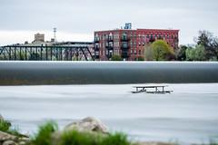 Solitude (randyr photography) Tags: river long exposure michigan grand grandrapids puremichigan leebigstopper