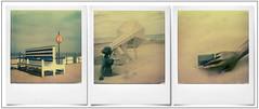 Noordzee ... (@necDOT) Tags: polaroid sx70 triptych belgium belgique belgie noordzee montage triptyque merdunord middelkerke westende impossibleproject