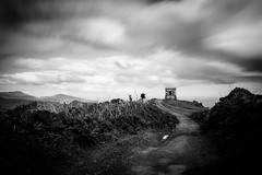 Castelo Branco, So Miguel, Azores islands (fsanty) Tags: road longexposure cloud holiday mountains tower castle portugal monochrome darkroom canon landscape eos blackwhite mood path dramatic filter azores watchtower somiguel vsco canoneos5dmarkii 5dmkii