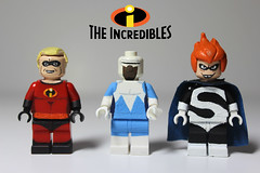 - The Incredibles - (TheCampervanTom) Tags: lego syndrome theincredibles custom mrincredible frozone