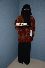 Slave waitress in warm uniform (Buses,Trains and Fetish) Tags: hot girl uniform warm coat hijab apron torture sweat waitress fleece niqab maid anorak slave burka chador