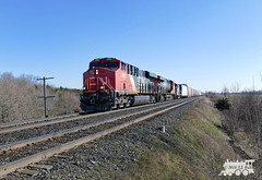CN 2882 (Ramblings From The 4th Concession) Tags: freighttrains cnrail gelocomotives es44ac cn2882 cndundassub panasonicfz1000