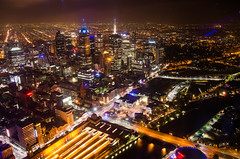 Melbourne from Eureka Tower (Carlos Barrero) Tags: city tower skyline night lights view under australia melbourne down panoramic cbd eureka