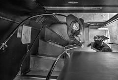 Next Stop (Photator) Tags: boy bus leaving transport departing