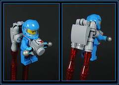 Unipac personal rocketship (Karf Oohlu) Tags: lego backpack minifig jetpack moc rocketpack