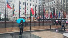 Outside of Rockefeller Center, in the rain (HIGDON FAMILY) Tags: new york city nyc newyork dan rock center debbie deb 30rock rockafeller rockafellercenter 2016