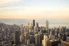 Chicago Skyline (DavidAvila Photography) Tags: sunset sky lake chicago water colors skyline buildings landscape photography illinois nikon state united fade balance states borderline d3100
