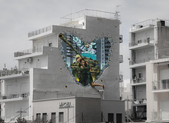love... not war (Yannis Raf) Tags: streetart streets sexy love wall buildings graffiti war colours streetphotography athens postprocess sigma1750f28 canoneos70d eos70d