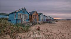 #258 of 365 - mudeford beach huts - 290416 (Emily_Endean_Photography) Tags: sunset cold beach architecture sunrise landscape dawn coast early spring nikon colours spit huts beachhuts mudeford jurassiccoast