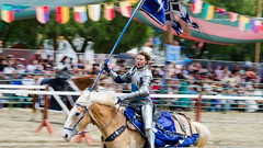Blue Knight (Kevin MG) Tags: ca costumes horse usa man losangeles action event knights faire recreation renfaire joust renaissance renaissancefaire irwindale socalrenfaire